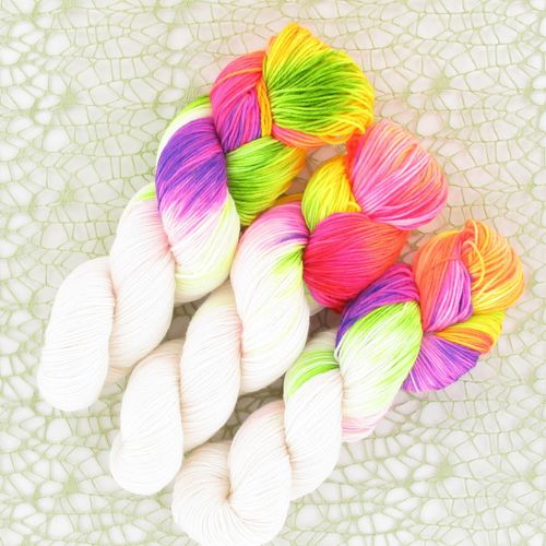 Creativo handgefärbtes Bio-Sockengarn Merino, Farbe Einhorn, mulesingfrei