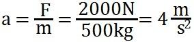 Formel für die Berechnung der Beschleunigung
