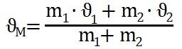 Formel zur Berechnung der Mischtemperatur