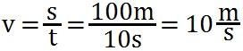 Beispiel für die Berechnung der Geschwindigkeit
