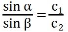 Formel für die Brechung von Licht