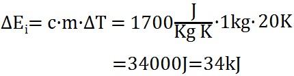 Beispielaufgabe zur Berechnung der Inneren Energie