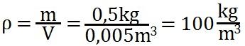 Beispielaufgabe zur Berechnung der Dichte