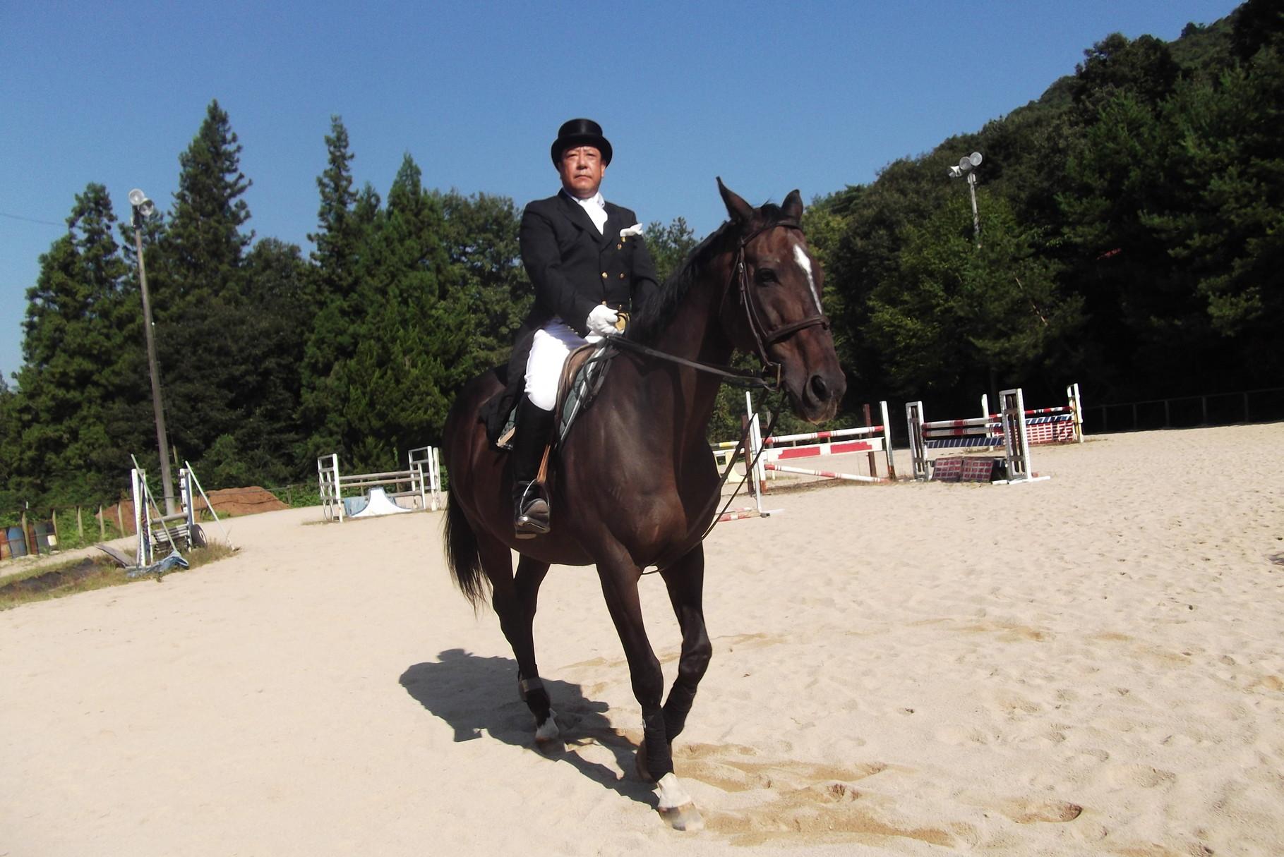 馬場馬術の練習