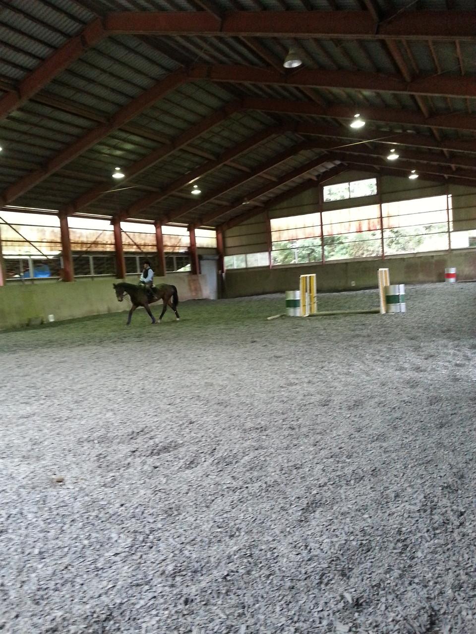 雨の日も乗馬いただける屋内馬場