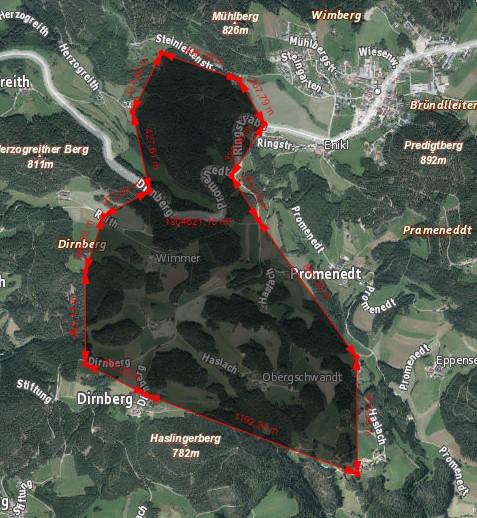 Der Suchbereich umfasste annähernd 2 km²