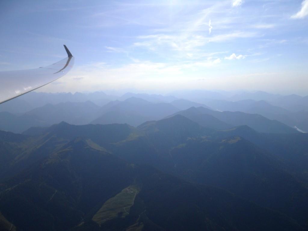 Gleitflug vom Rofan nach Norden
