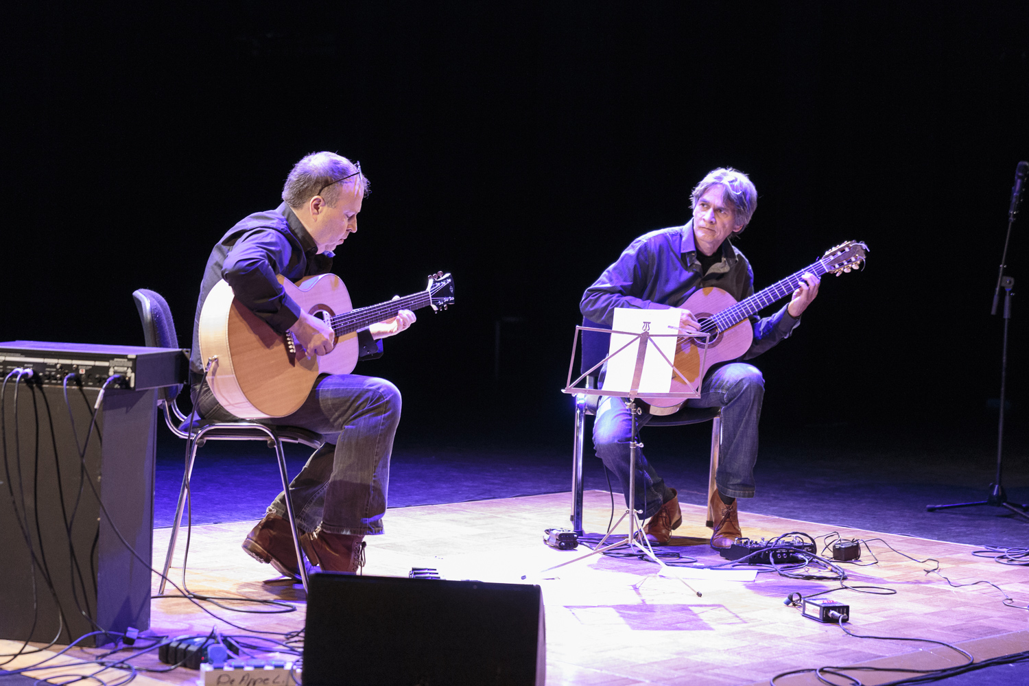 Concert by Olaf Tarenskeen and Axel Hagen.