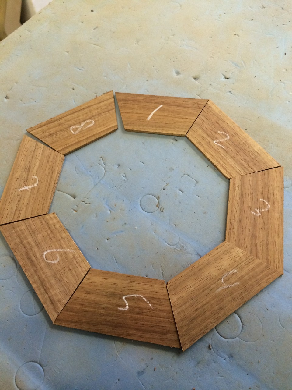 Fitting the Koa rosette segments