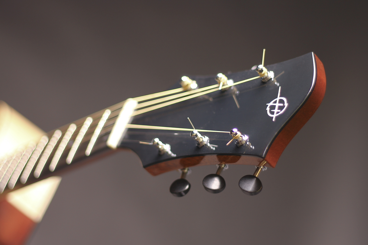 Headstock with ebony tuners