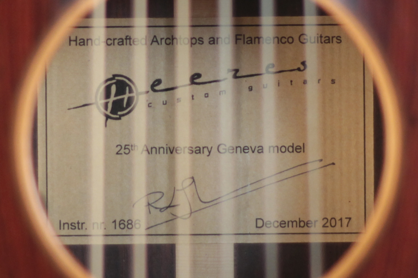 Label of our 25th Anniversary Model (2017)