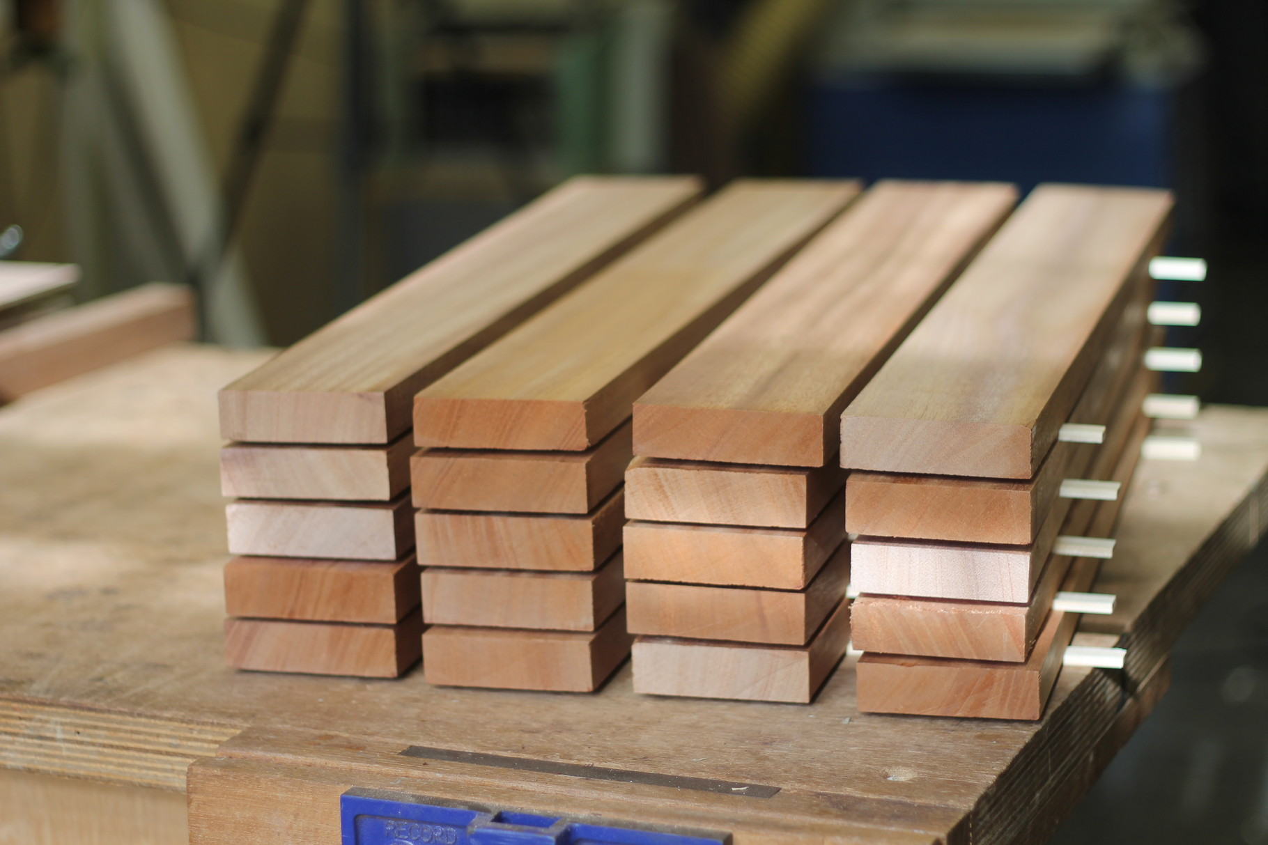 Mahogany neck blanks