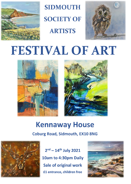 """Sidmouth Society of Artists """" Festival of Art"""""""