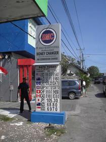 bureau de change à Kuta
