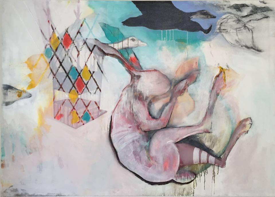 Zum Abschuss frei -  Acryl auf Leinwand  100 cm x 140 cm