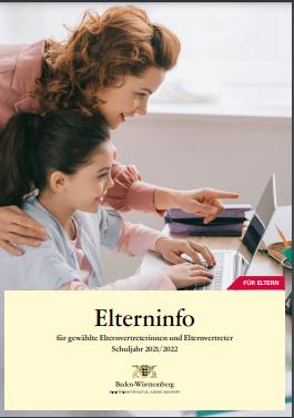 Deckblatt der Elterninfo 2021/22 (Kultusministerium BW)