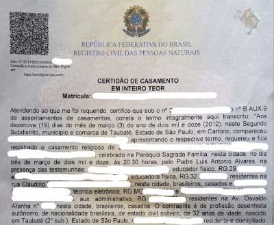 Beglaubigte Übersetzung Heiratsurkunde Portugiesisch Deutsch certidão de casamento