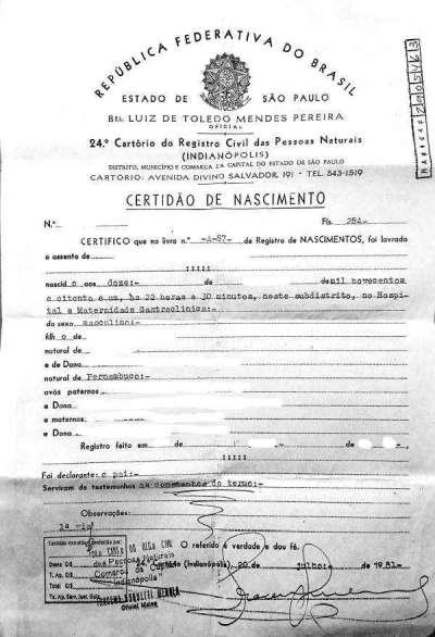 Beglaubigte Übersetzung Geburtsurkunde Portugiesisch->Deutsch