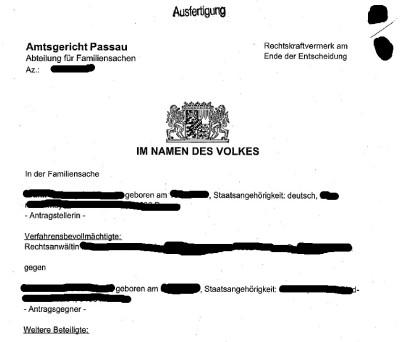Beglaubigte Übersetzung Scheidungspapiere Deutsch