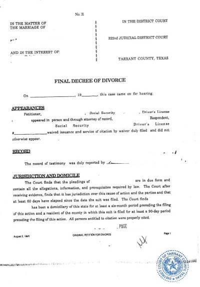 Beglaubigte Übersetzung decree of divorce Englisch Deutsch