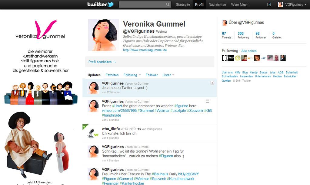 Twitter Profil von VGFigurines - Veronika Gummel Figuren