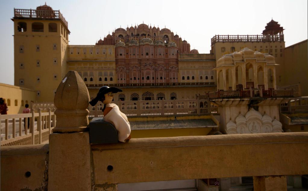 goethe in jaipur palast der winde veronika gummel figuren. Black Bedroom Furniture Sets. Home Design Ideas