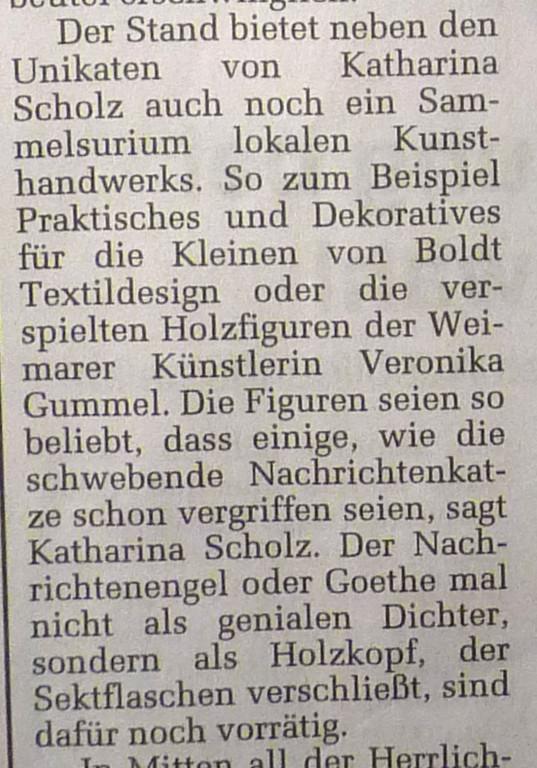 """TLZ Bericht zum Weihnachtsmarkt: """"Die Nachrichtenkatze ist schon vergriffen"""""""