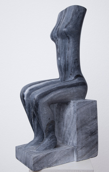 Female torso, sitting (65cm)