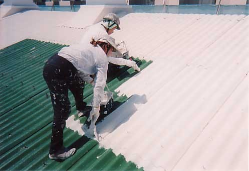 Roof Application of Cool Therm