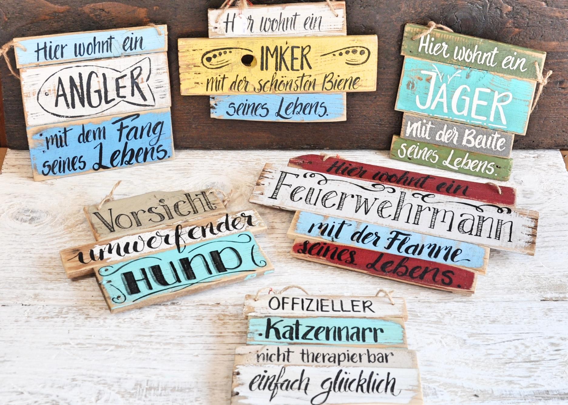 Hobby: Angler, Feuerwhermann, Imker, Jäger & Haustiere