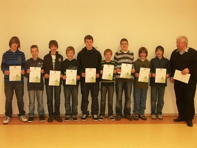 Gewinner des Mathematik-Wettbewerbs 2008