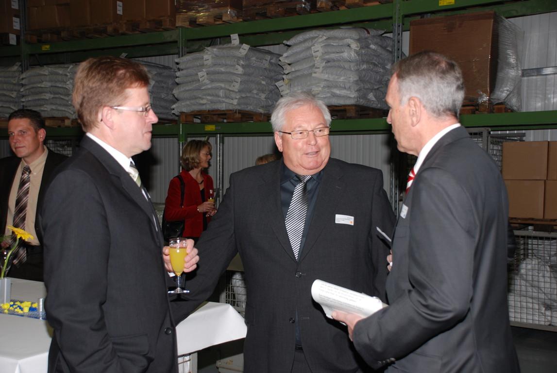 Im Gespräch mit Herrn Regierungspräsodent Klein und Bürgemeister Horsel