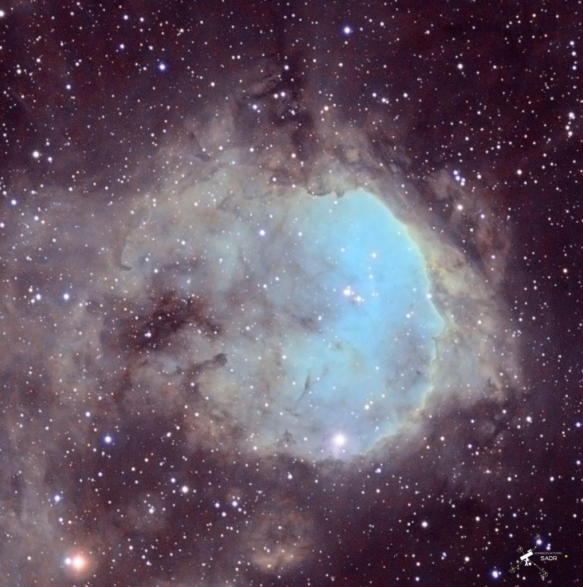 NGC 3324, gros plan