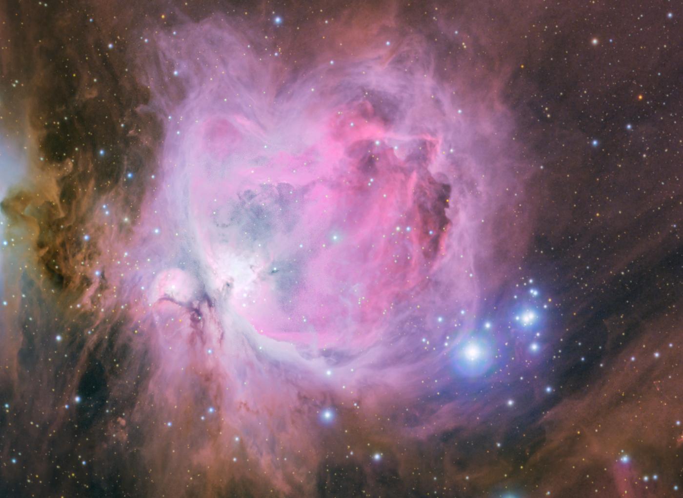 M42, la célèbre nébuleuse d'Orion, version Fabien