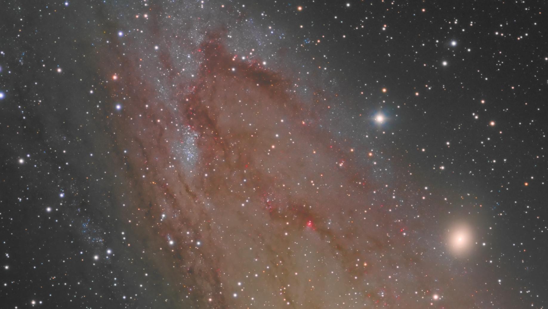 Régions extérieures de M31