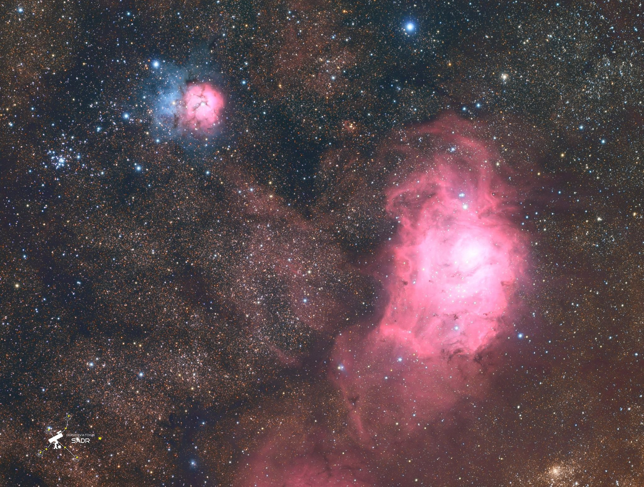 M20 (Trifide) et M8 (la Lagune), lunette 71, Fabien