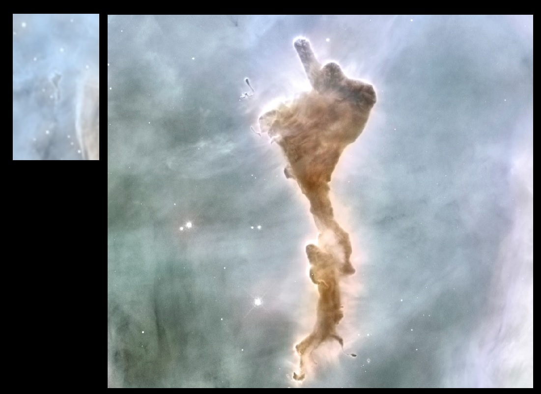 "La nébuleuse ""God finger"", par Hubble"