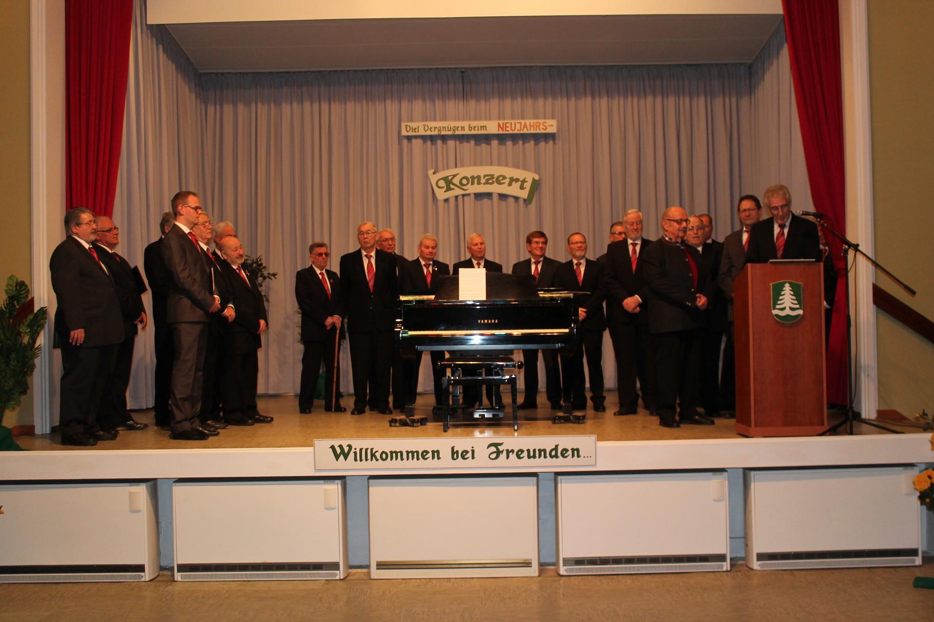 Begrüßung der Gäste durch 1. MGV Vorsitzenden Hrn. Norbert Mohr