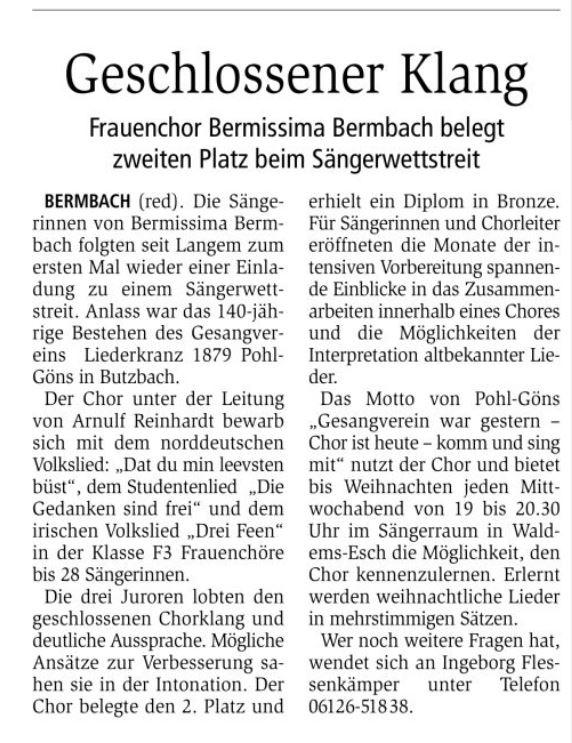 Idsteiner Zeitung, 27. September 2019