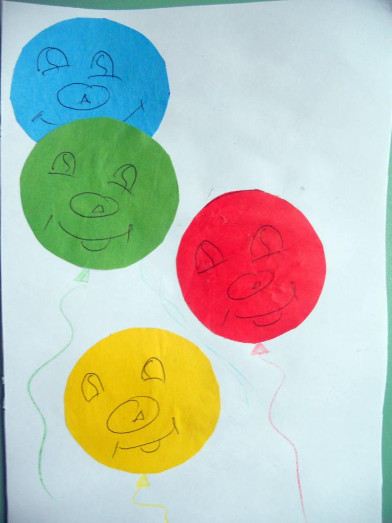 Цветные шарики.Изучаем цвета.