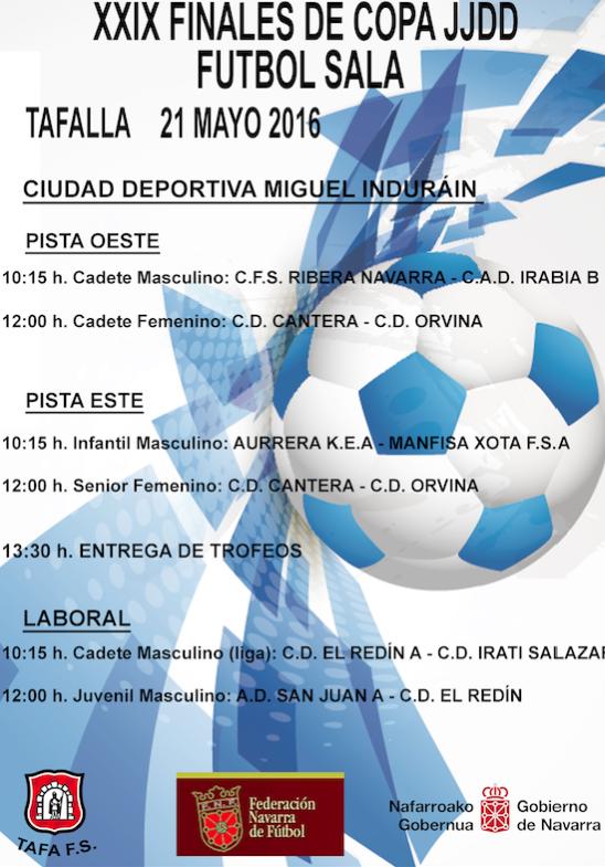 Cartel de las finales de fútbol sala