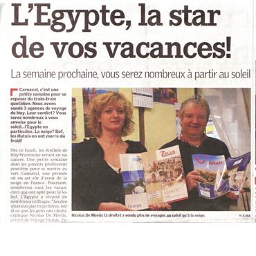 Les Voyages Hutois à l'honneur dans le journal La Meuse