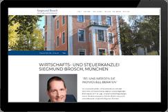 Webseite WP/Steuerberater Brosch München