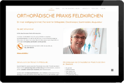 Webseite Orthopädische Praxis Feldkirchen