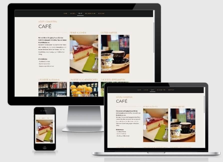 Arbeitsbeispiel https://www.idee-e-complementi.de/cafe/