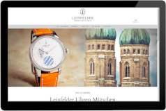 Webseite Leinfelder Uhren München