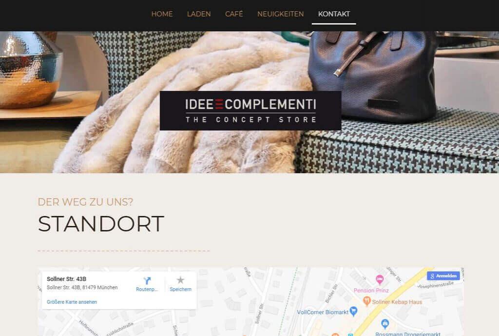 Referenz https://www.idee-e-complementi.de/kontakt/