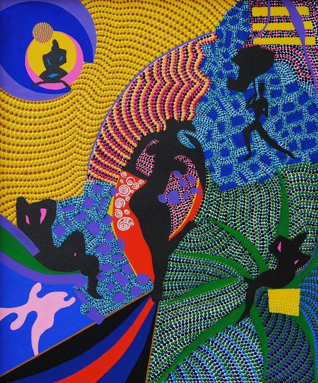 Le jardin de volupté (2012) - 60,2 x 50,2 cm - Acryl und Tusche auf Leinwand