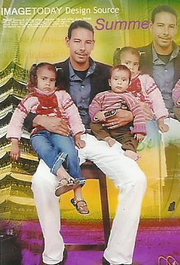 Mahmoud mit seinen 2 Kindern.