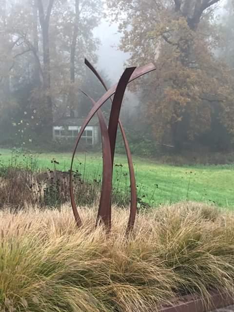 cortensculptuur unity, tuin sculptuur